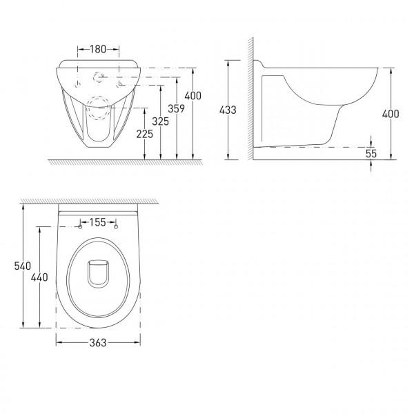 Комплект инсталляции 4в1 VOLLE MARO 13-52-222+141515