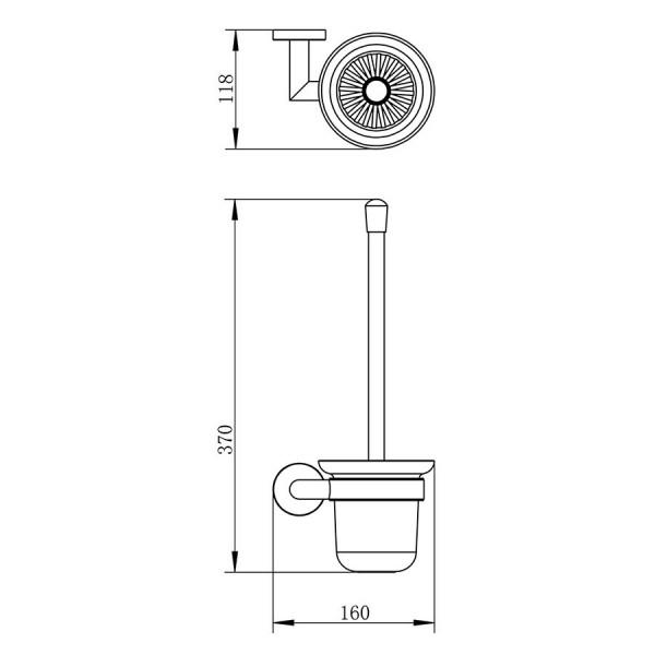 Унитаз компакт напольный с твердым сиденьем Slim slow-closing Volle Orlando 13-35-342+150100