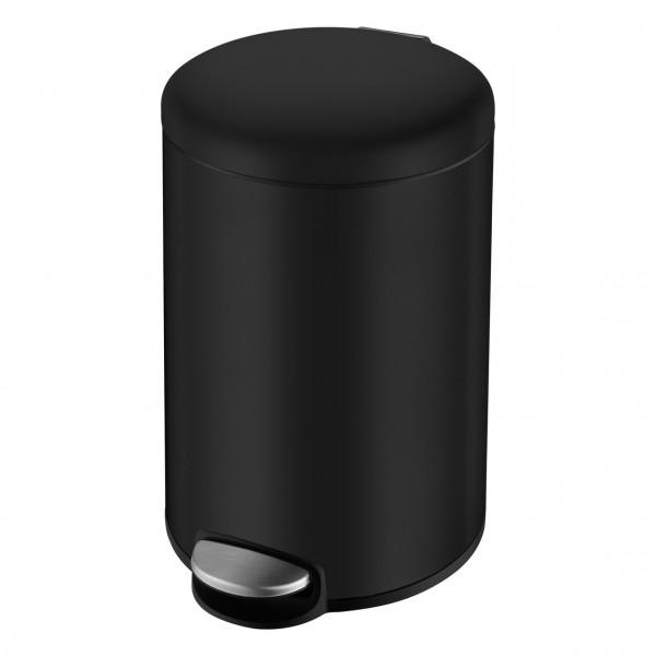Ведро мусорное округлое 8л, с педалью, черное Volle 14-08-53B