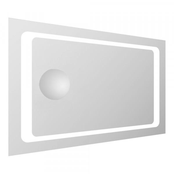 Зеркало прямоугольное 55*80см со светодиодной подсветкой и встроенным зеркалом с увеличением 3Х Volle 16-55-558
