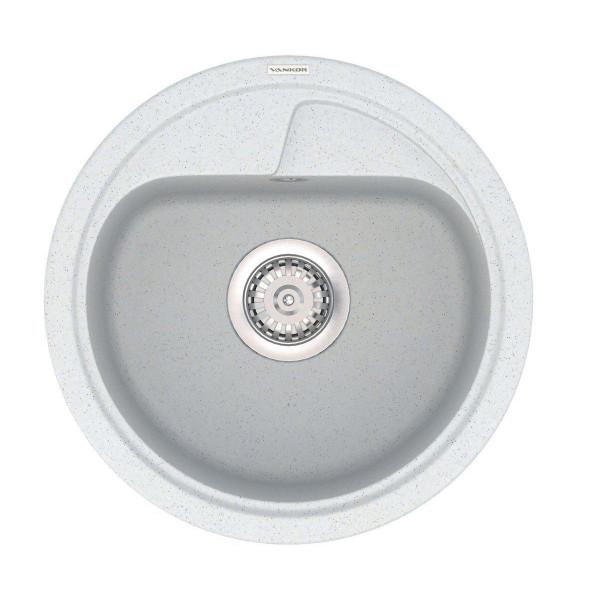 Кухонная мойка из кварцевого камня круглая Vankor Polo PMR 01.45 Sahara