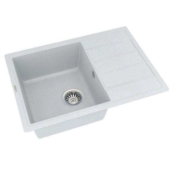 Кухонная мойка из кварцевого камня прямоугольная Vankor Easy EMP 02.62 Vanilla