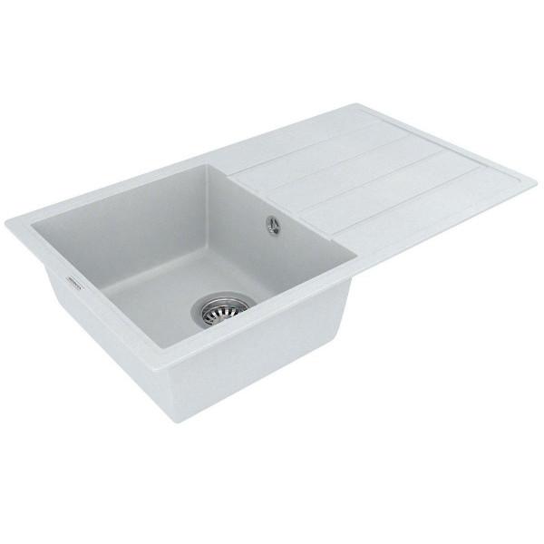 Кухонная мойка из кварцевого камня прямоугольная Vankor Easy EMP 02.76 Vanilla