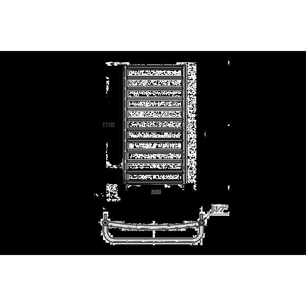 Полотенцесушитель водяной Марио Люкс НР 1100х530/500 4820111351299
