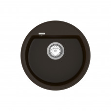 Кухонная мойка из кварцевого камня круглая Vankor Easy EMR 01.45 Chocolate