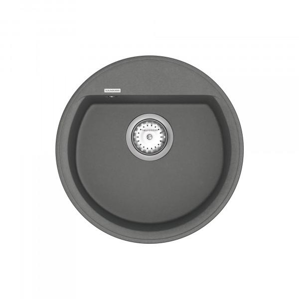 Кухонная мойка из кварцевого камня круглая Vankor Easy EMR 01.45 Gray