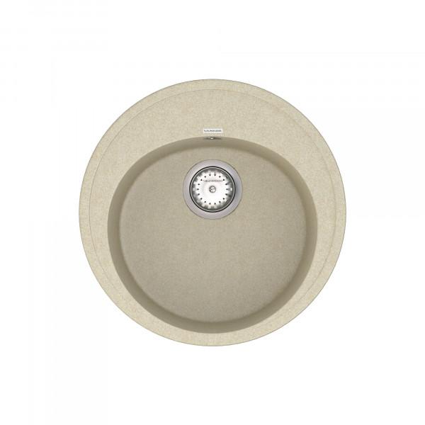 Кухонная мойка из кварцевого камня круглая Vankor Sity SMR 01.50 Beige