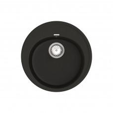 Кухонная мойка из кварцевого камня круглая Vankor Sity SMR 01.50 Black