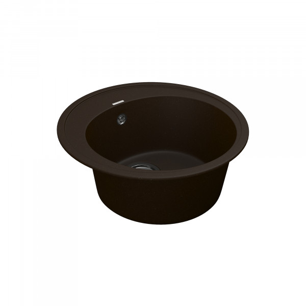Кухонная мойка из кварцевого камня круглая Vankor Sity SMR 01.50 Chocolate