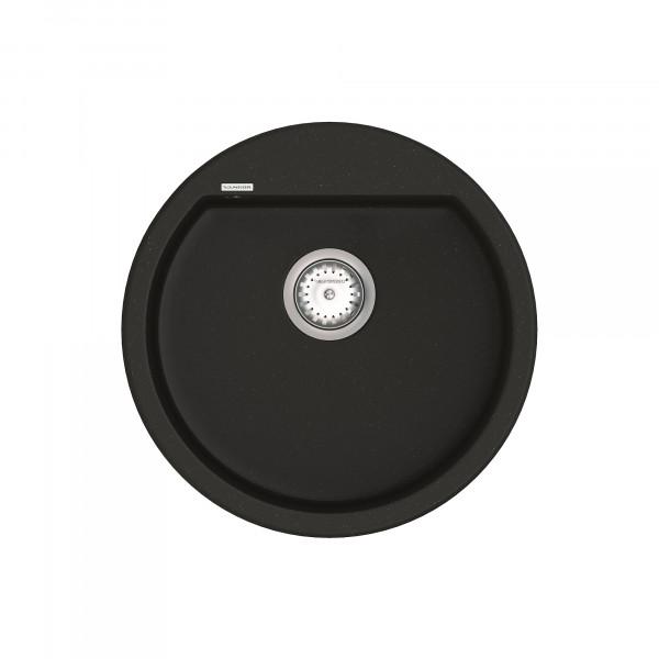 Кухонная мойка из кварцевого камня круглая Vankor Tera TMR 01.50 Black