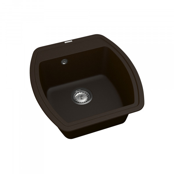 Кухонная мойка из кварцевого камня квадратная Vankor Norton NMP 01.48 Chocolate