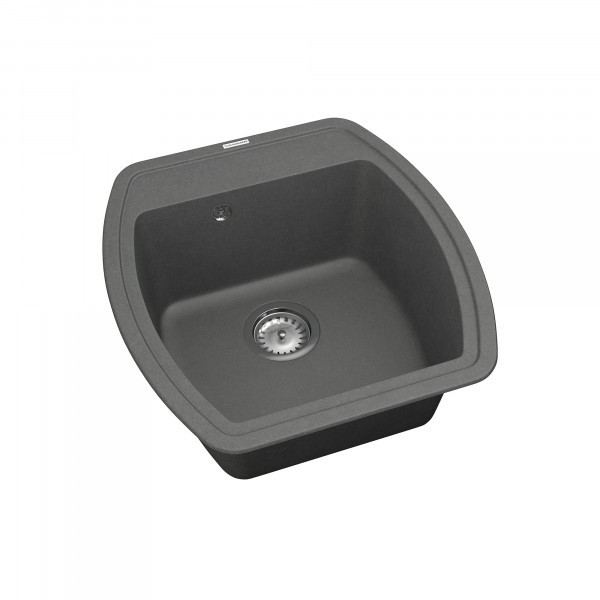 Кухонная мойка из кварцевого камня квадратная Vankor Norton NMP 01.48 Gray