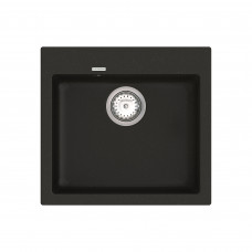Кухонная мойка из кварцевого камня квадратная Vankor Orman OMP 01.49 Black