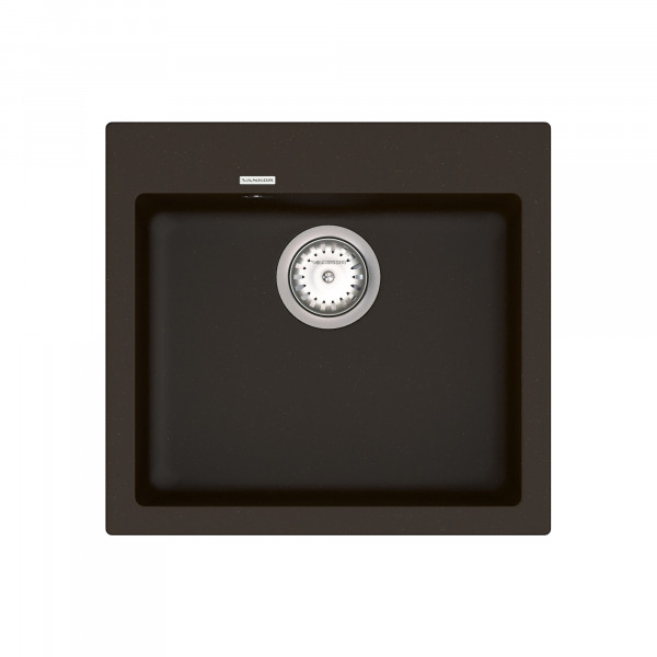 Кухонная мойка из кварцевого камня квадратная Vankor Orman OMP 01.49 Chocolate