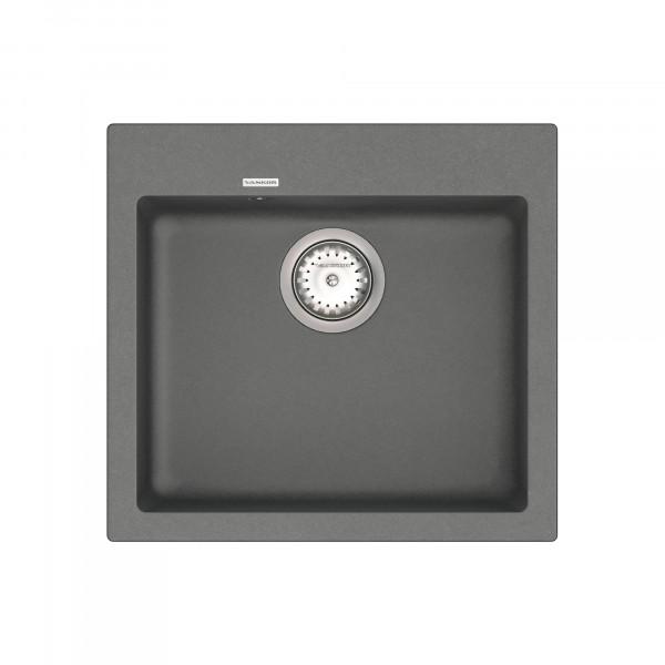 Кухонная мойка из кварцевого камня квадратная Vankor Orman OMP 01.49 Gray