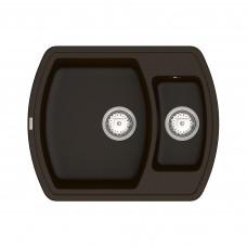 Кухонная мойка из кварцевого камня прямоугольная на полторы чаши Vankor Norton NMP 03.63 Chocolate