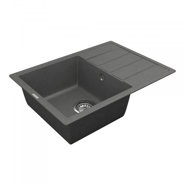 Кухонная мойка из кварцевого камня прямоугольная Vankor Easy EMP 02.62 Gray