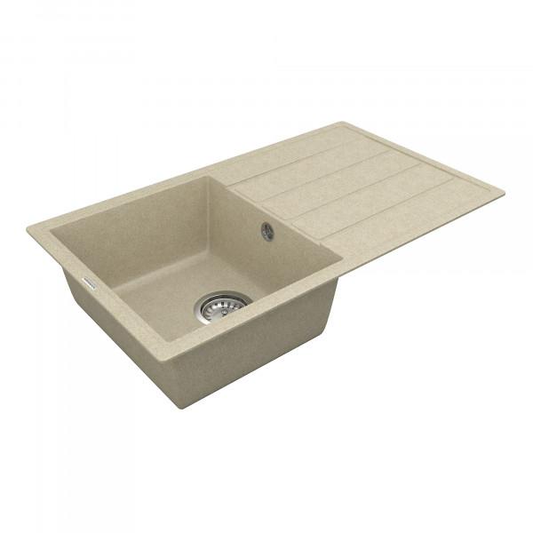 Кухонная мойка из кварцевого камня прямоугольная Vankor Easy EMP 02.76 Beige
