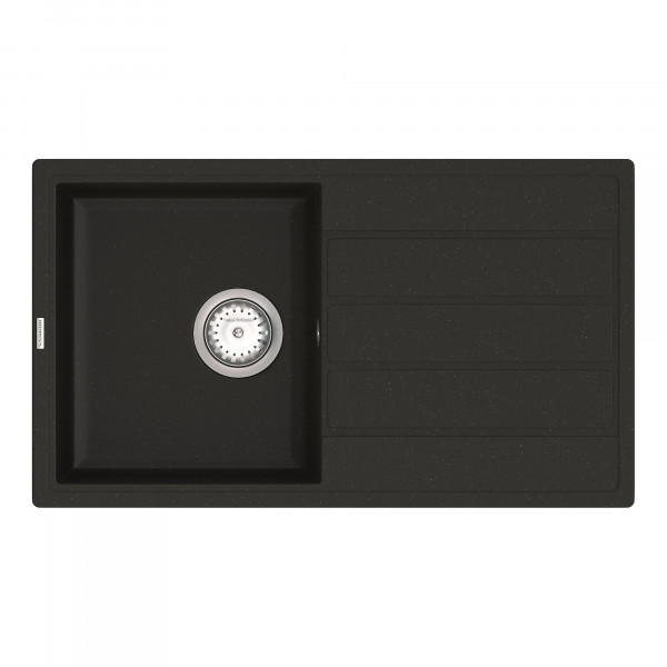 Кухонная мойка из кварцевого камня прямоугольная Vankor Easy EMP 02.76 Black