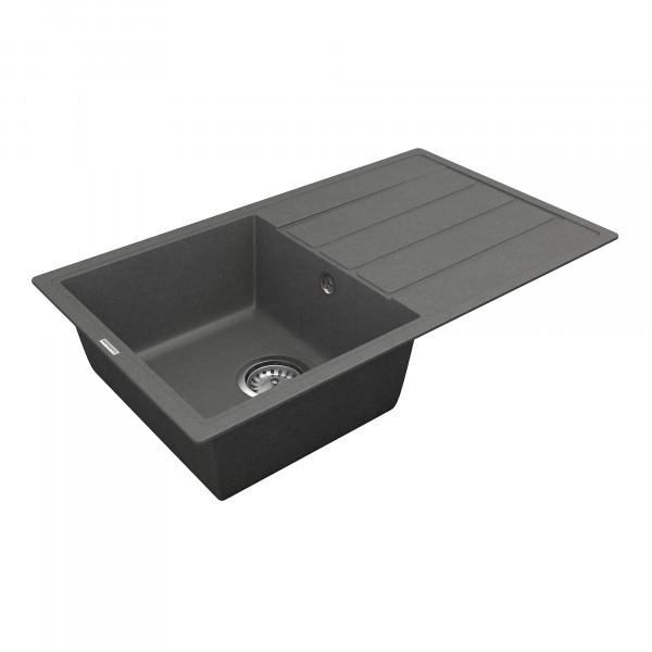 Кухонная мойка из кварцевого камня прямоугольная Vankor Easy EMP 02.76 Gray