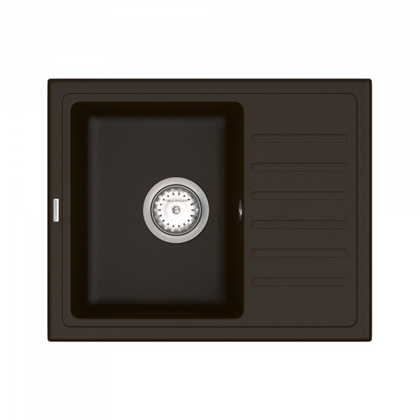 Кухонная мойка из кварцевого камня прямоугольная Vankor Lira LMP 02.55 Chocolate