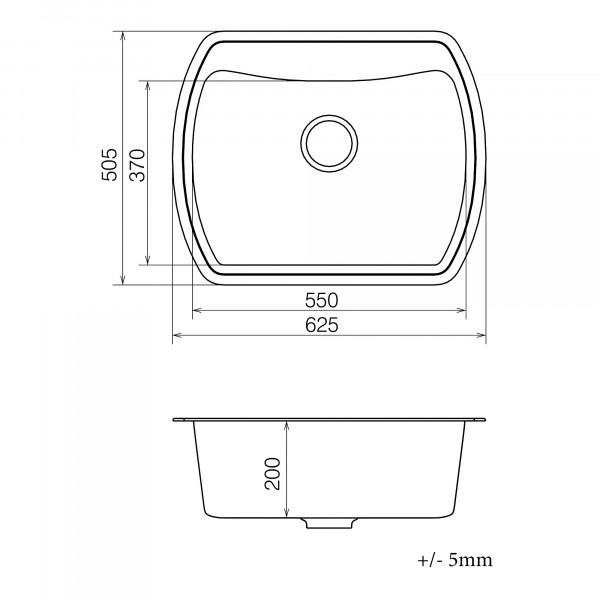 Кухонная мойка из кварцевого камня прямоугольная Vankor Norton NMP 01.63 Beige