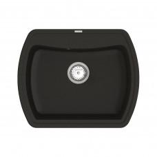 Кухонная мойка из кварцевого камня прямоугольная Vankor Norton NMP 01.63 Black