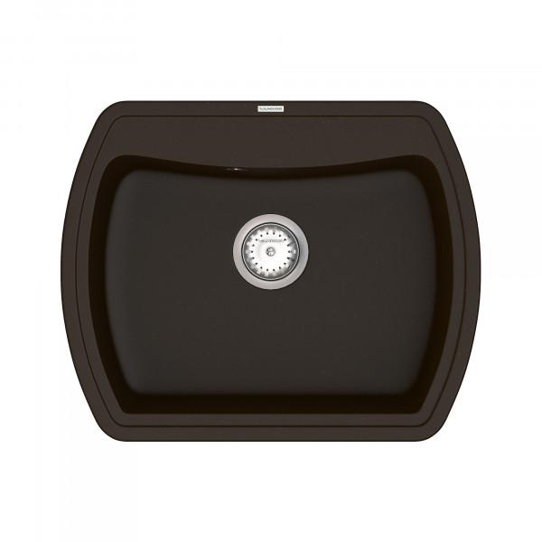 Кухонная мойка из кварцевого камня прямоугольная Vankor Norton NMP 01.63 Chocolate