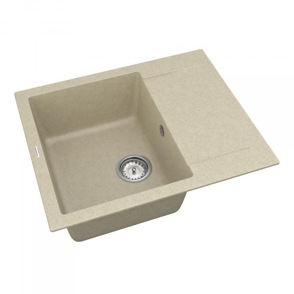 Кухонная мойка из кварцевого камня прямоугольная Vankor Orman OMP 02.61 Beige