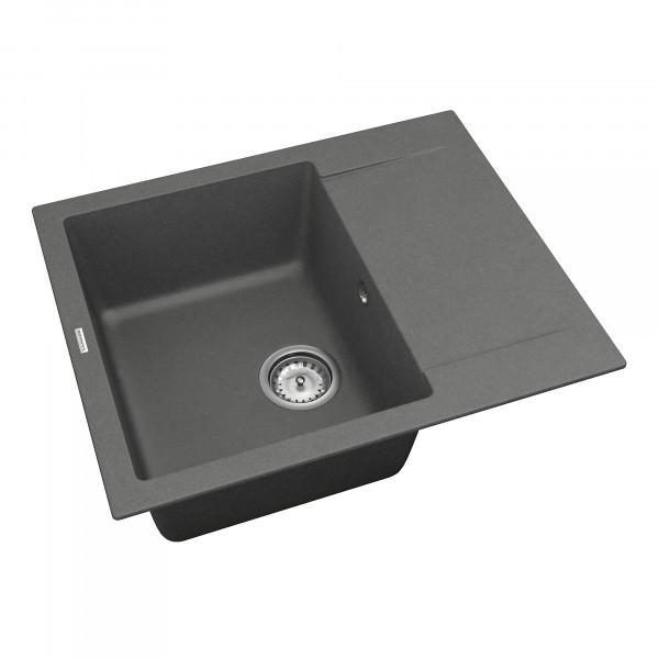Кухонная мойка из кварцевого камня прямоугольная Vankor Orman OMP 02.61 Gray
