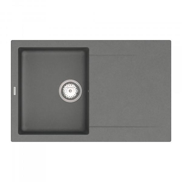 Кухонная мойка из кварцевого камня прямоугольная Vankor Orman OMP 02.78 Gray