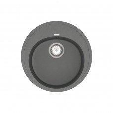 Кухонная мойка из кварцевого камня круглая Vankor Sity SMR 01.50 Gray