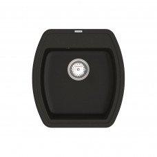 Кухонная мойка из кварцевого камня квадратная Vankor Norton NMP 01.48 Black