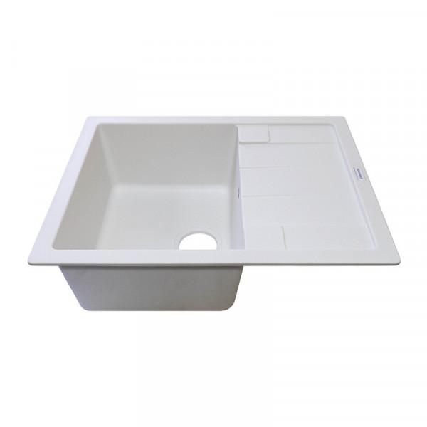 Кухонная мойка гранитная Adamant ANILA 650х500х200 01 белый