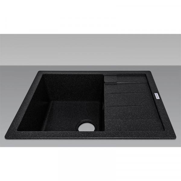 Кухонная мойка гранитная Adamant ANILA 650х500х202 03 черный