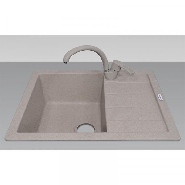 Кухонная мойка гранитная Adamant ANILA 650х500х206 07 терра