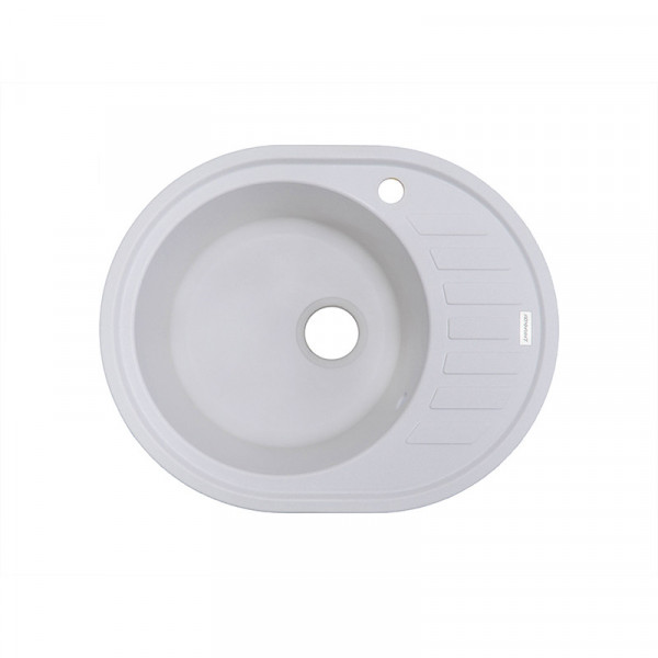 Кухонная мойка гранитная Adamant OVUM 620х500х200 01 белый