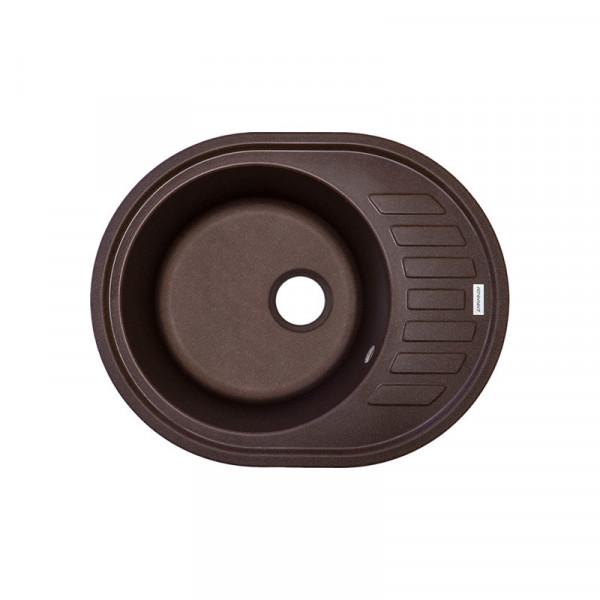 Кухонная мойка гранитная Adamant OVUM 620х500х204 05 коричневый