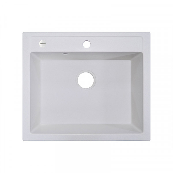 Кухонная мойка гранитная Adamant PRIZMA 590х500х200 01 белый