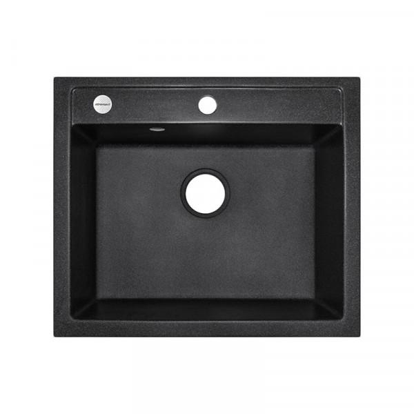 Кухонная мойка гранитная Adamant PRIZMA 590х500х202 03 черный