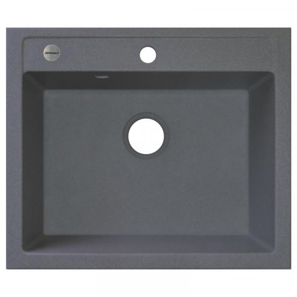 Кухонная мойка гранитная Adamant PRIZMA 590х500х203 04 серый