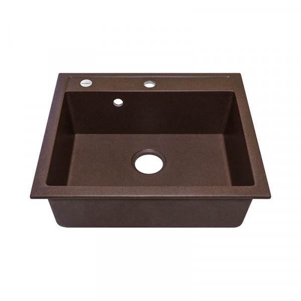 Кухонная мойка гранитная Adamant PRIZMA 590х500х204 05 коричневый