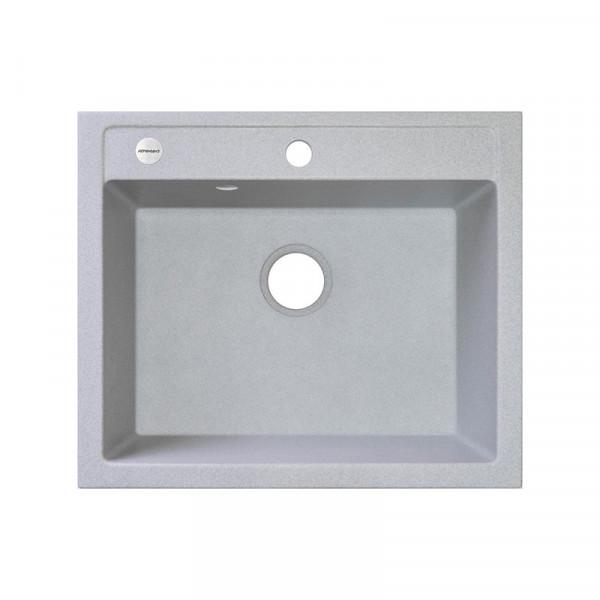 Кухонная мойка гранитная Adamant PRIZMA 590х500х208 09 светло-серый