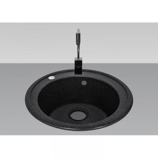 Кухонная мойка гранитная Adamant SUN 510х202 03 черный