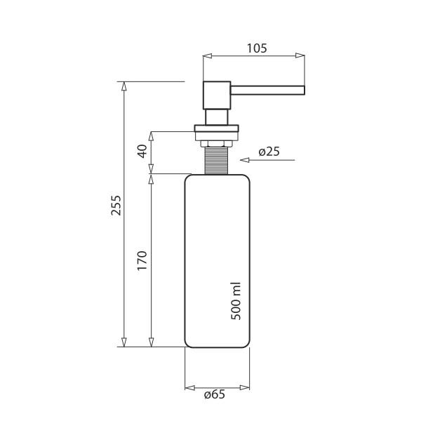 Дозатор для кухни Aquasanita DQ-001
