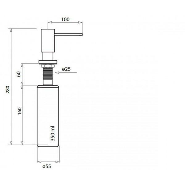 Дозатор для кухни Aquasanita DR-001