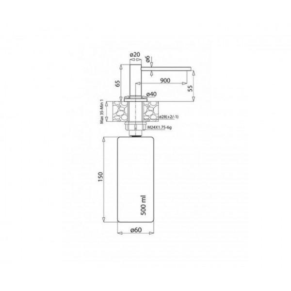 Дозатор для кухни Aquasanita DS-601
