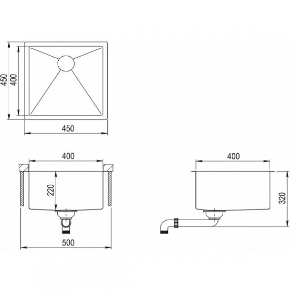 Мойка для кухни Aquasanita Enna ENN-100X