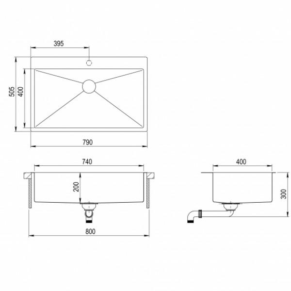 Мойка для кухни Aquasanita Luna LUN-100M