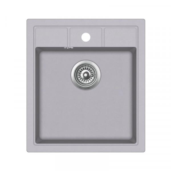 Мойка для кухни гранитная алюметаллик AquaSanita NOVA SQN-100-202